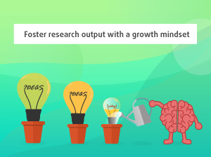 Foster research output with a growth mindset