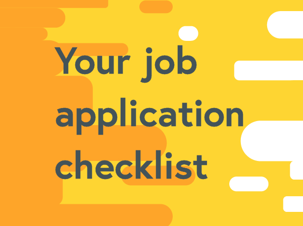 Your job application checklist